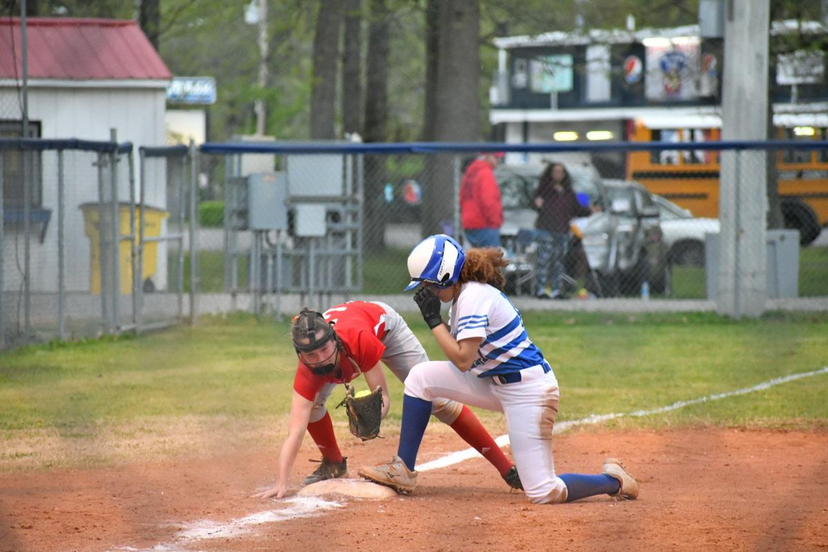 Riley triples in the third inning against Calloway