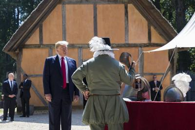 Trump hails self-government during Jamestown ceremony