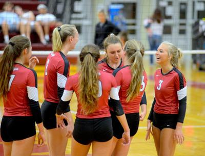 Lady Mustangs moving along at halfway point with sweep of Marshall