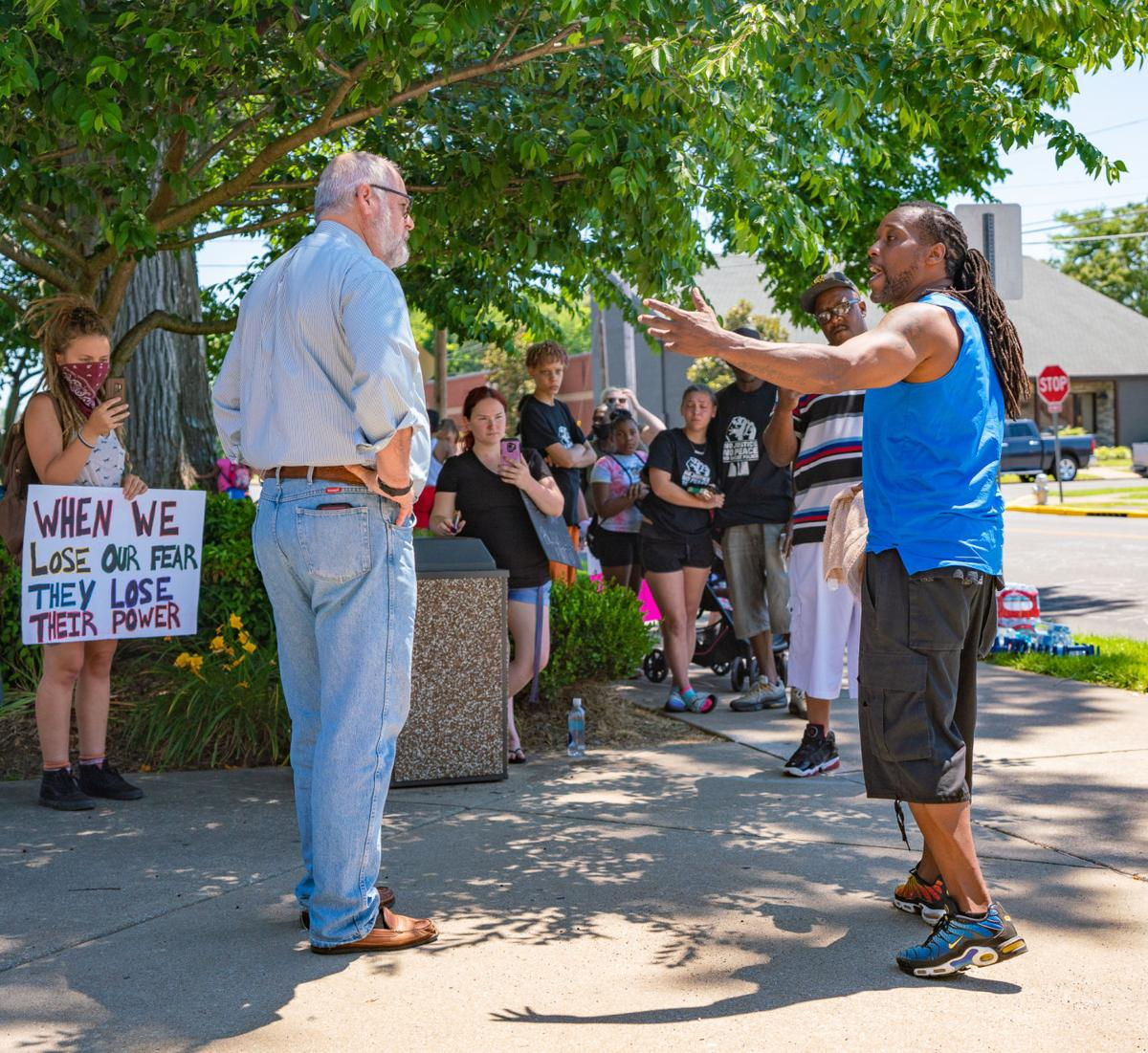 Protestors get audience with Clymer