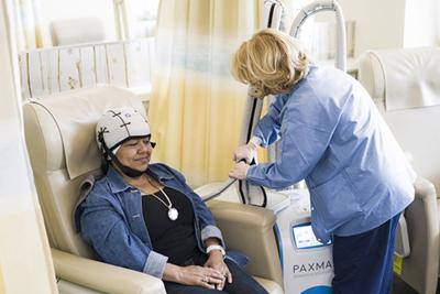 Cold cap therapy helps chemo patients prevent loss of hair