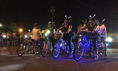 Cyclists brighten night during sixth annual Moonlight Ride