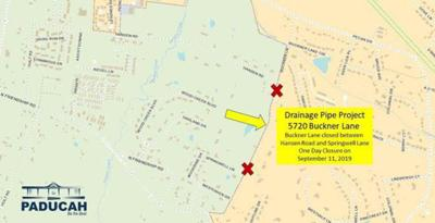 Part of Buckner Lane to close for drainage pipe project