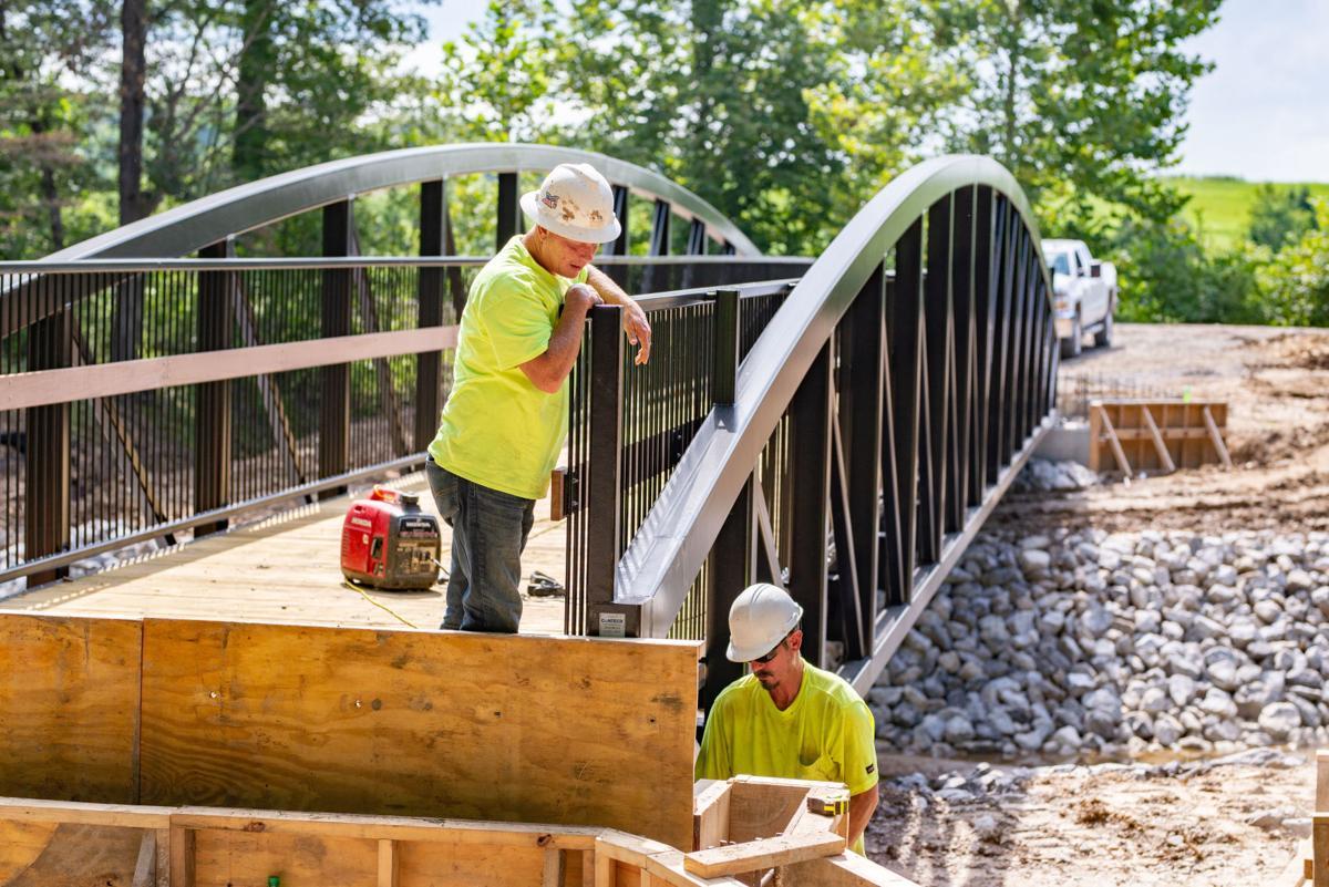 Bob Leeper Bridge installed, work on park connector progressing