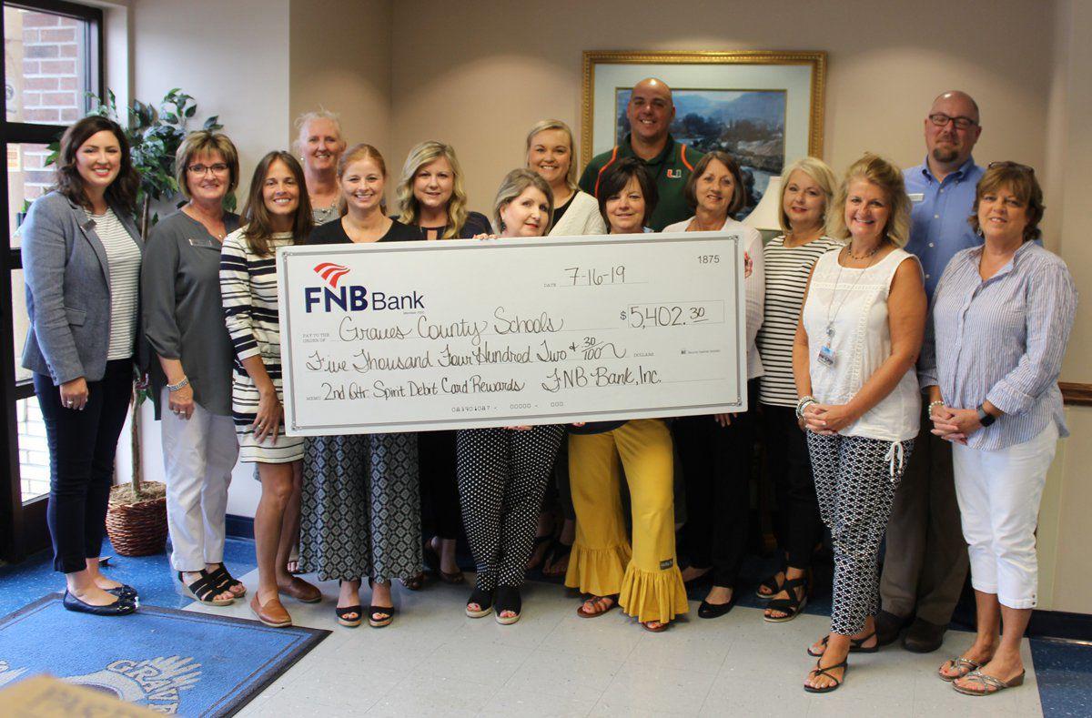 FNB donates through Spirit Debit Card Program