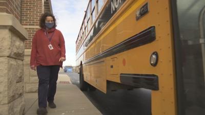 Fancy Farm principal drives school bus to fill shortage during pandemic PHOTO