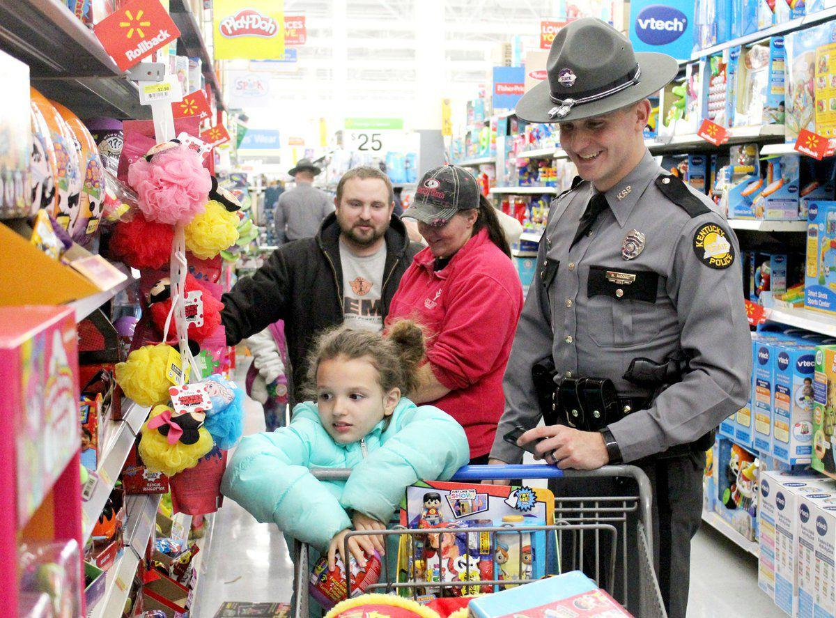 Troopers, schools team up to give area students a merry Christmas