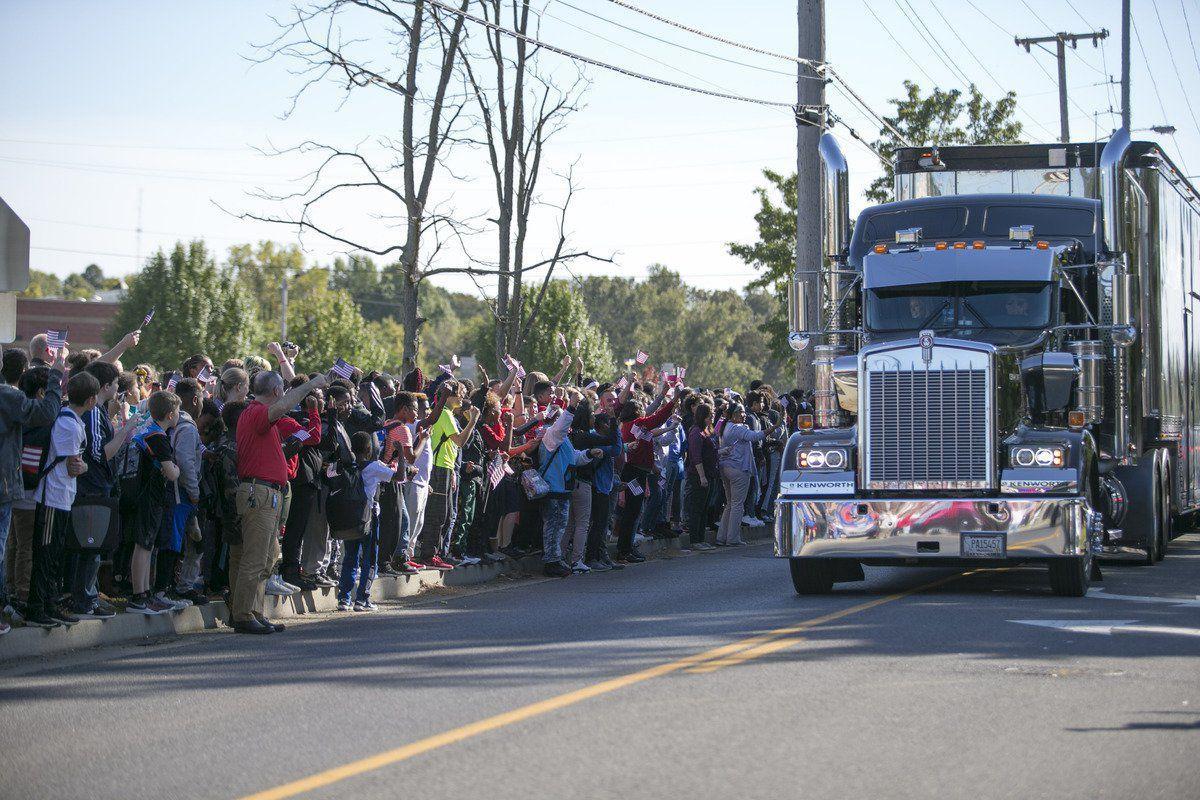 Wall That Heals memorial given escort of 220 vehicles