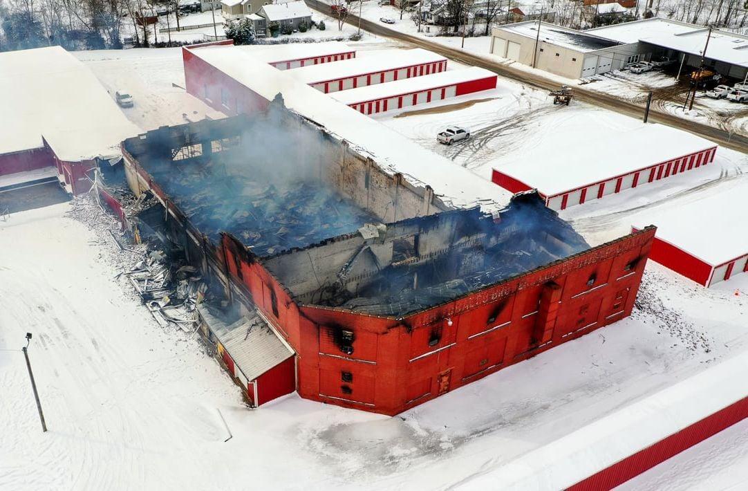 Fire destroys much of historic warehouse, origin not suspicious