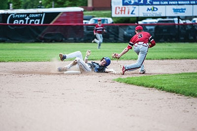 Tanner Smith slides into second base