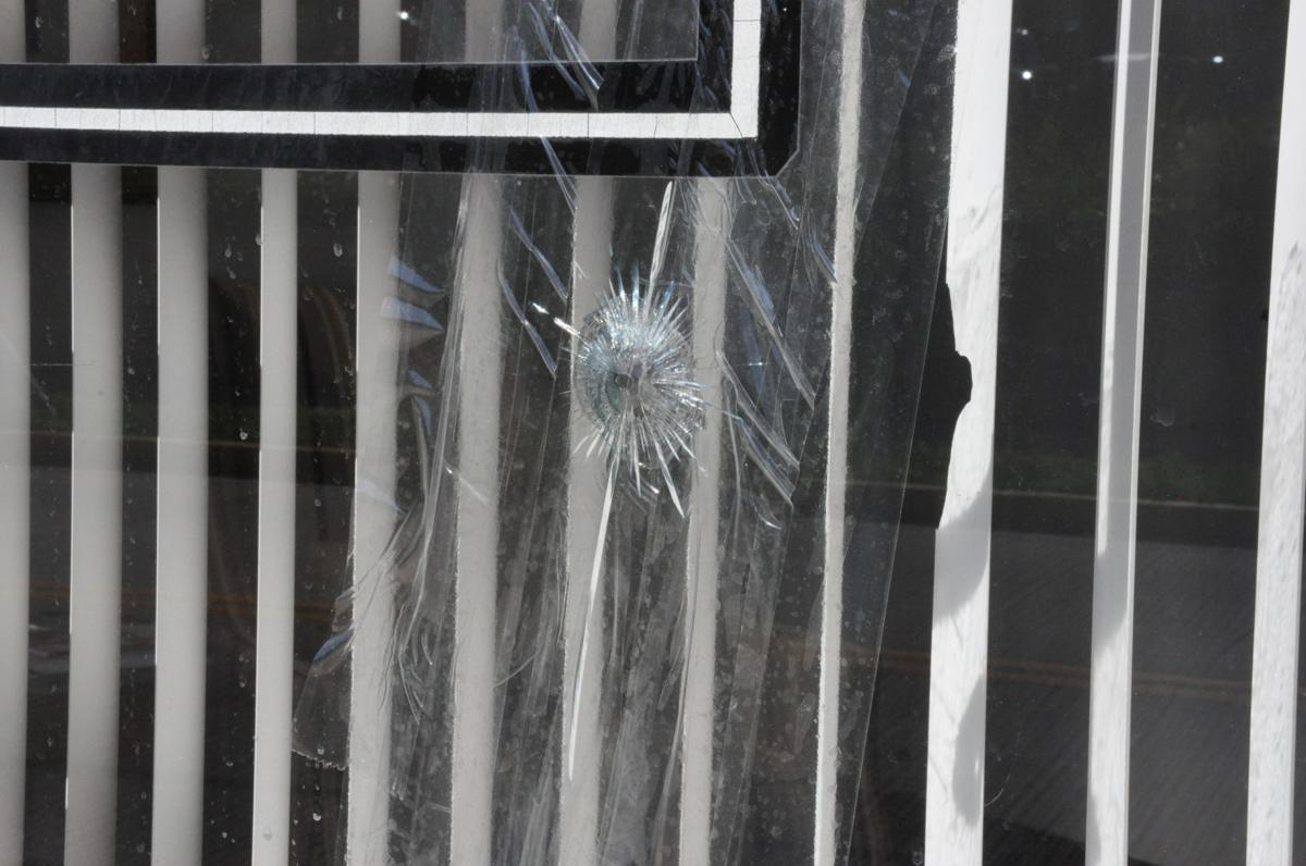 round fired into the window of attorney Robert Miller's office