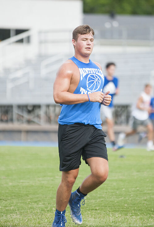 Matthew Davis getting in some sprints during conditioning earlier this week.jpg
