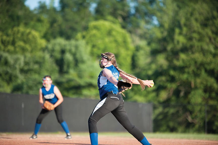 Young Gun pitcher BB Jordan delivers a pitch during Mondays matchup against the Krushers.jpg