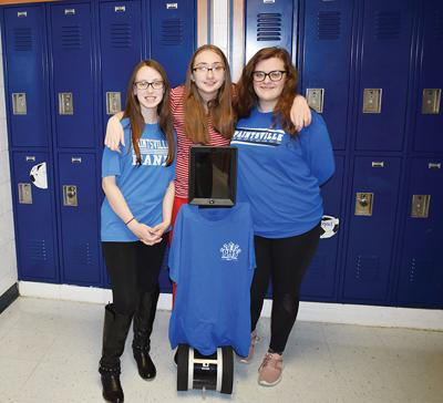 Megan stays strong in her studies with help of robot and friends
