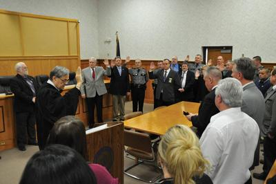 Johnson County  officials sworn in
