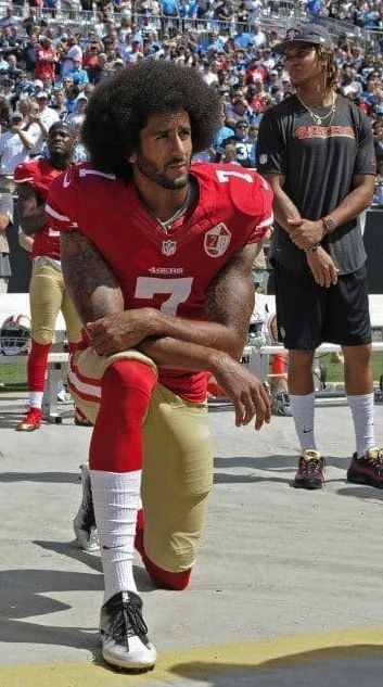 Image result for kaepernick on knee