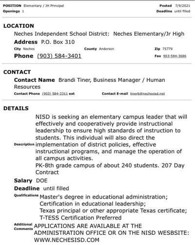 Region 7 job posting