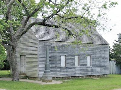 Replica of building at Washington on the Brazos