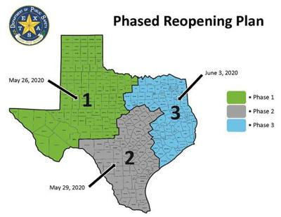 DPS reopening map