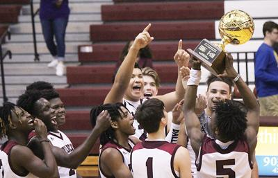 Palestine boys celebrate with gold ball