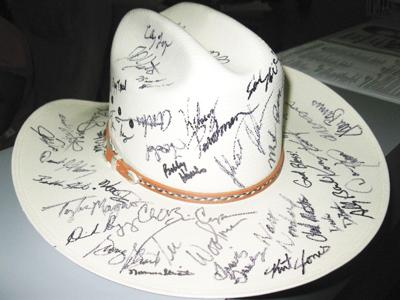 Autographed cowboy hat to be auctioned  6cdb130f1b7