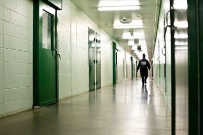 Inside jail