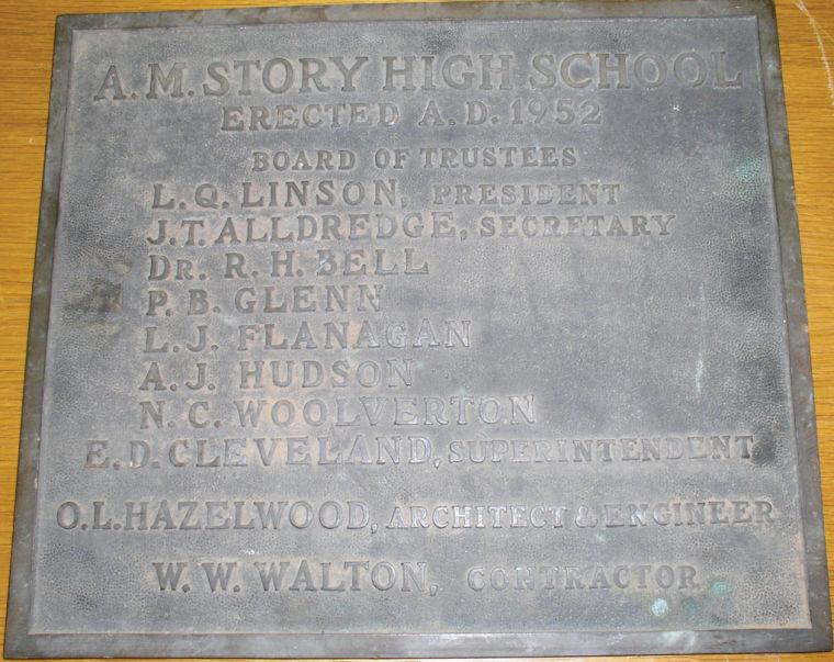 Story School Plaque