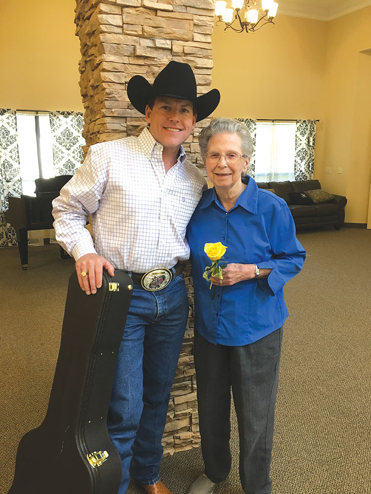 King george impersonator grants senior wish community margaret crisp with george strait impersonator derek spence m4hsunfo Gallery