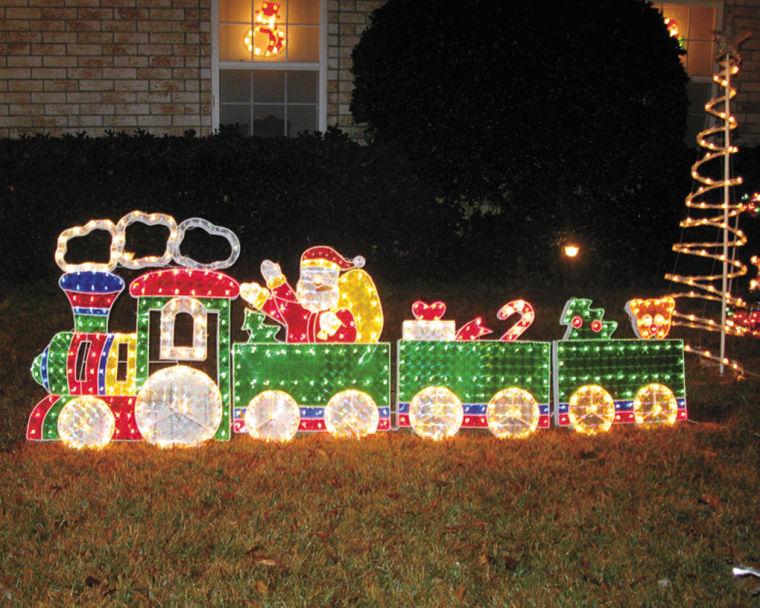 christmas train - Lighted Train Christmas Decoration