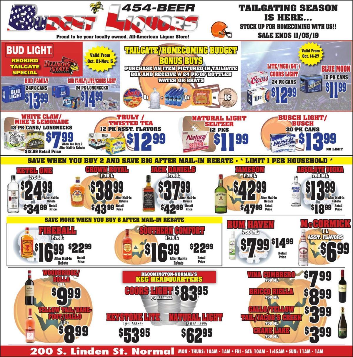 Budget Liquors oct sale revise