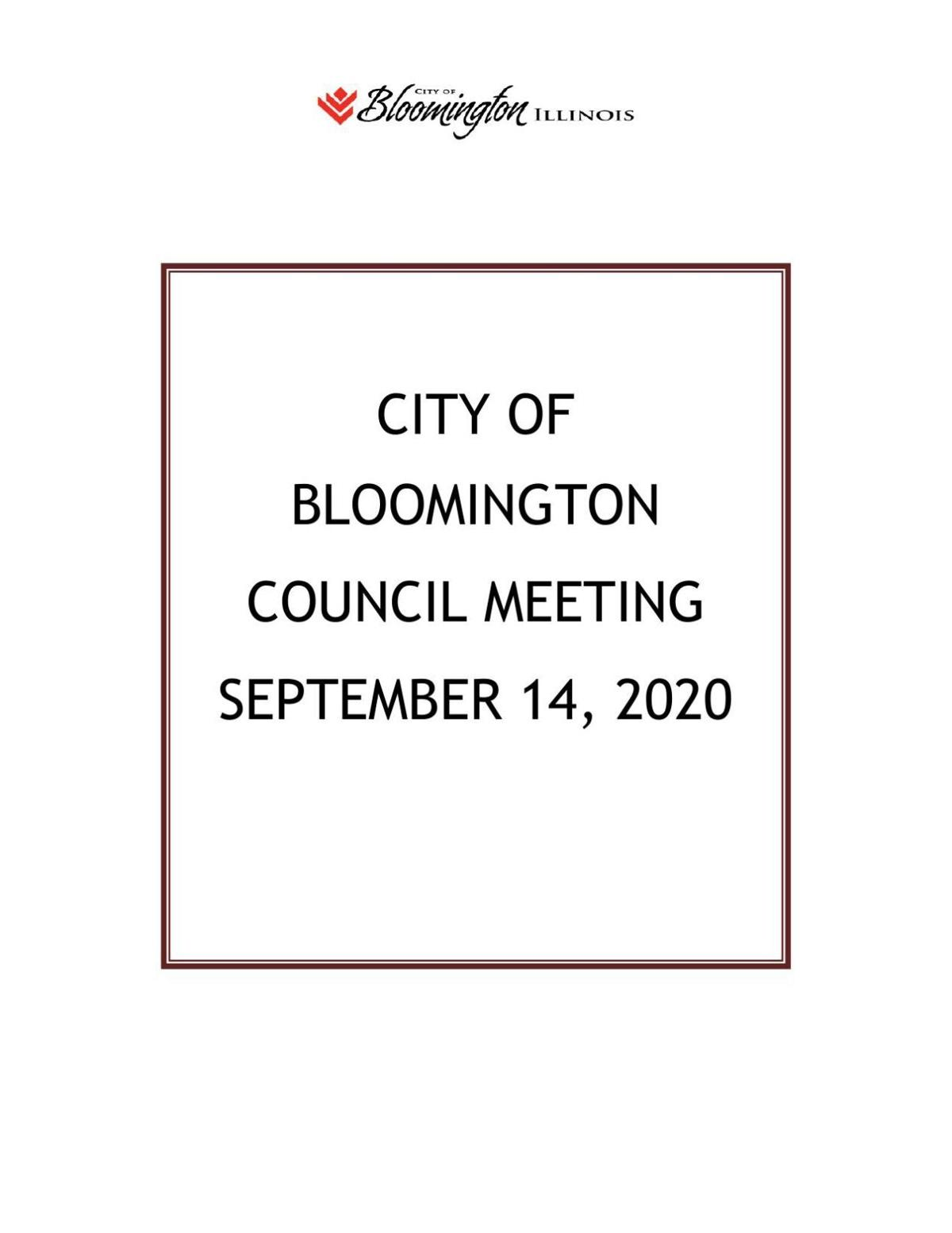 Bloomington council agenda