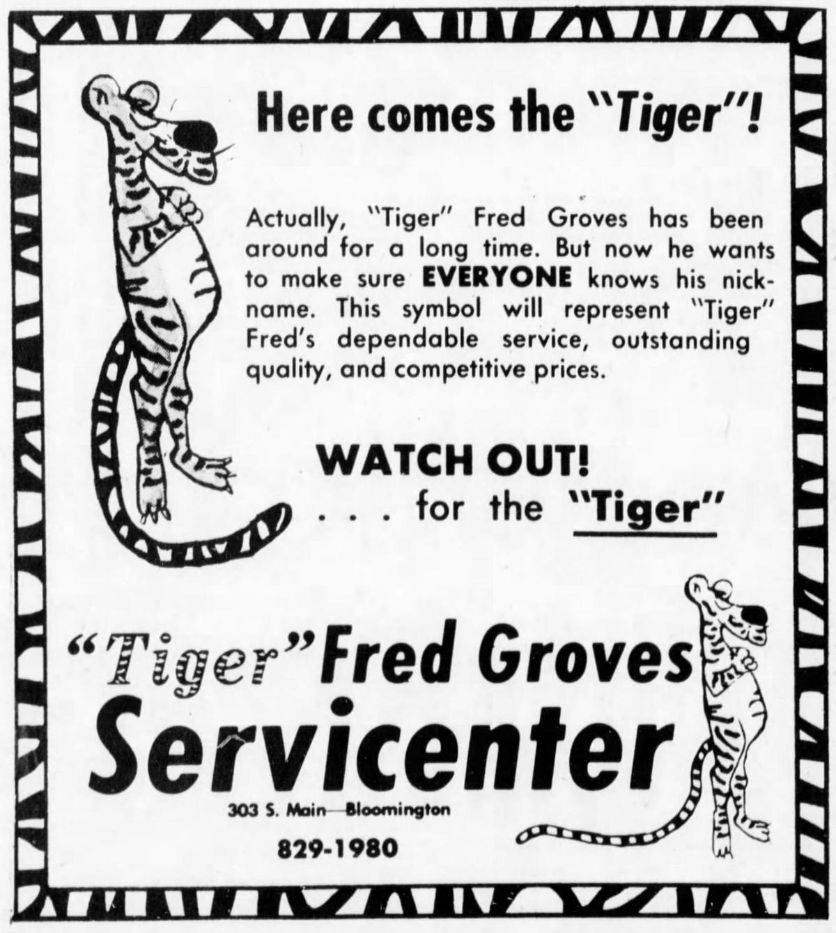 Fred Groves 1976 Pantagraph advertisement