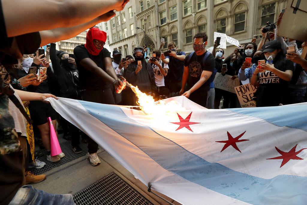 APTOPIX Minneapolis Police Death Protest Chicago