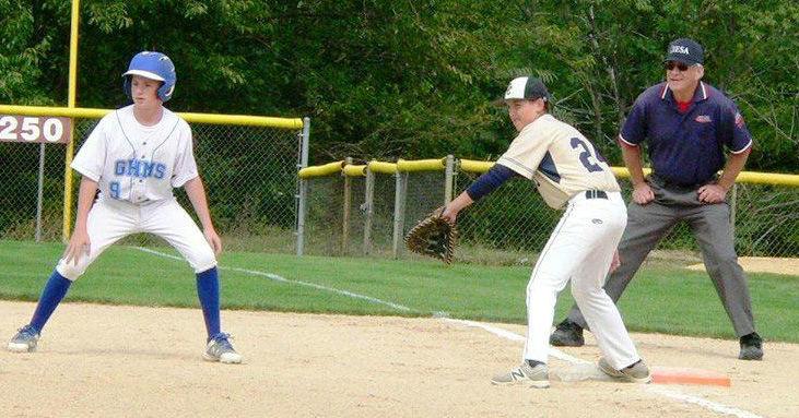 Tim Griffin umpiring at first base
