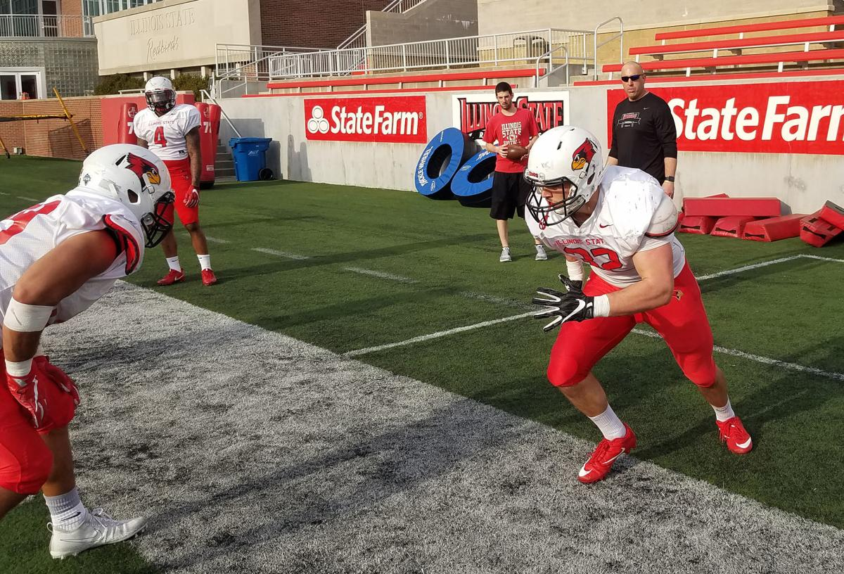 Zeke Vandenburgh, ISU football spring drills
