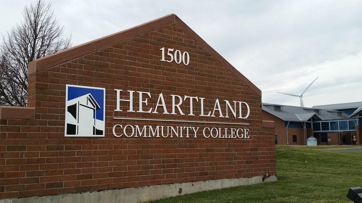 Heartland Community College sign