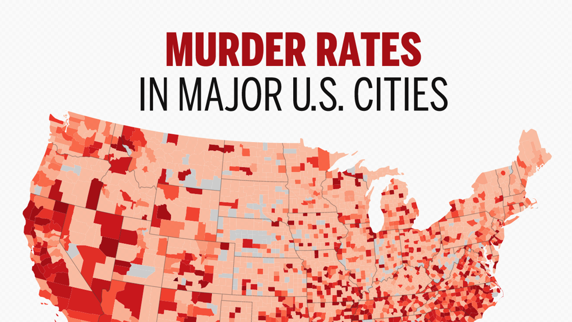 30 major U.S. areas with the highest murder rates ...