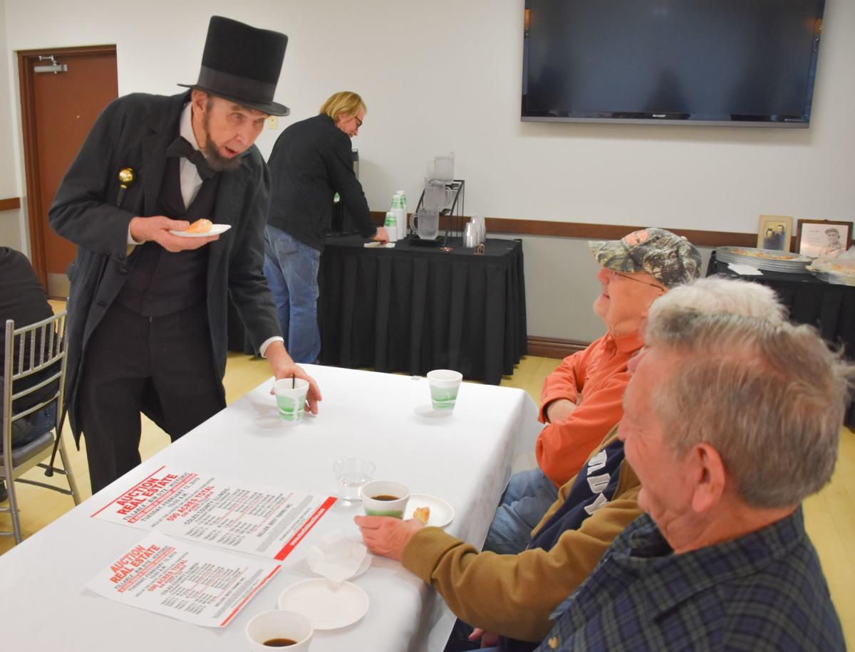 Farm land auction Lincoln portrayer