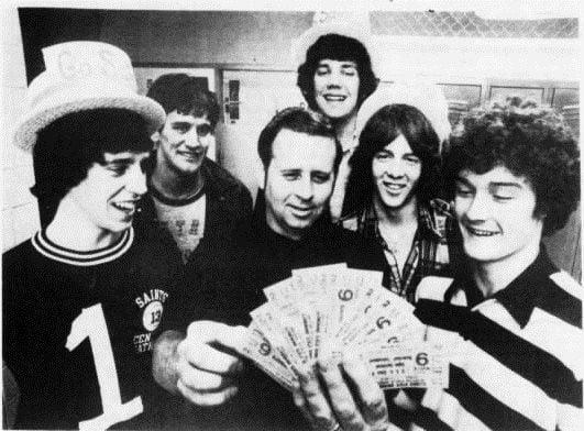 Matt Messamore in 1976 group photo