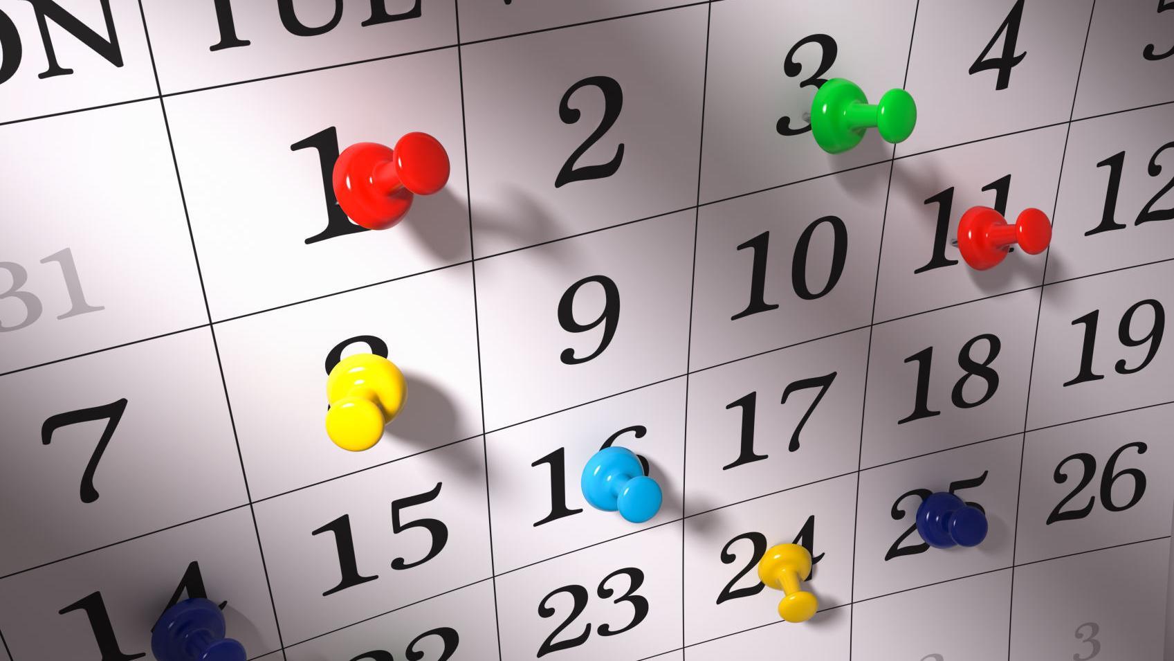 Area Calendar 9/11/19