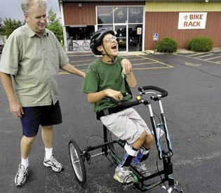 Bicycle Shop Owner Creates Bikes For Disabled Children