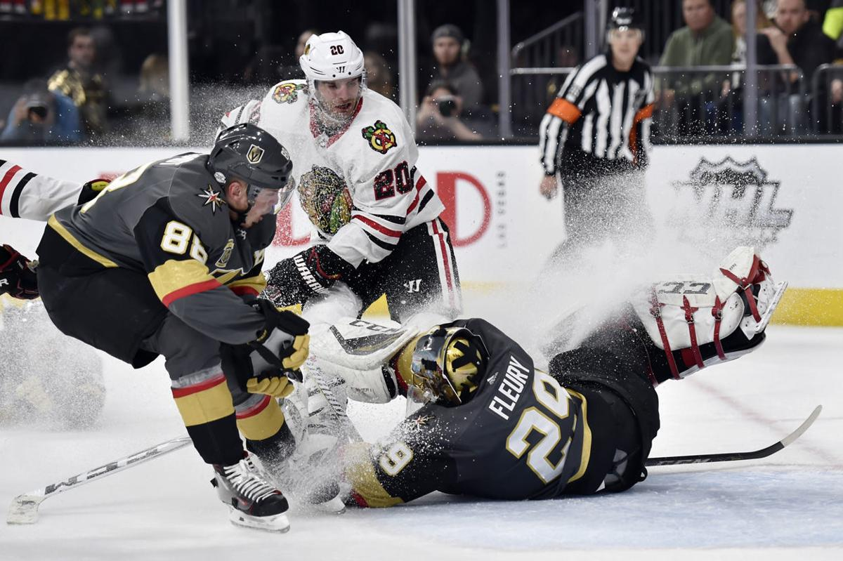 Blackhawks Golden Knights Hockey