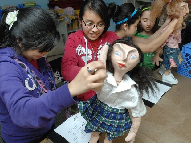 Student puppeteers