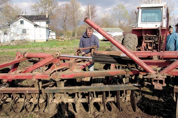 Corn planting in Michigan