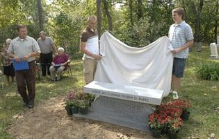 Ancestors honored with dedication of new bench