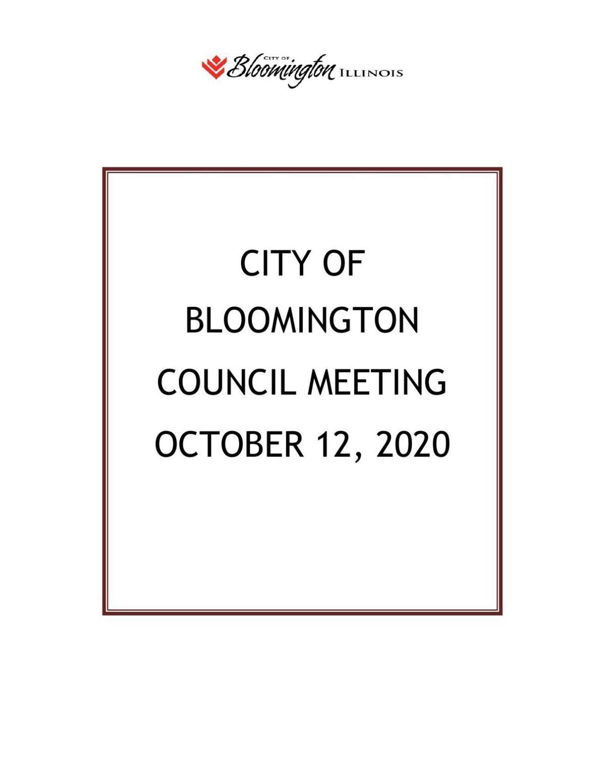 Bloomington City Council agenda