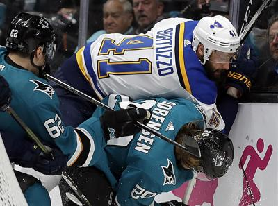 Defensive Switch Helps Blues Even West Final Vs Sharks Hockey