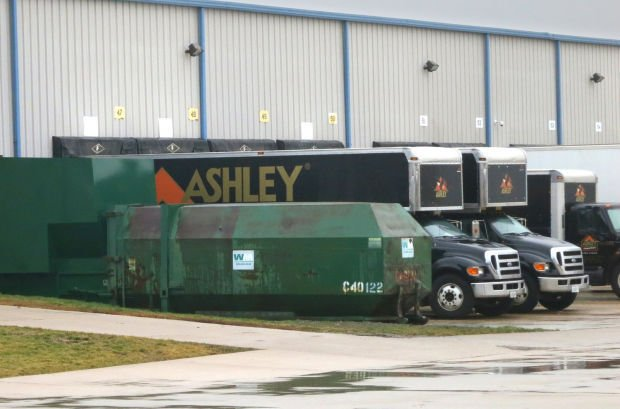 Ashley Trucks at Warehouse. Ashley Furniture opens distribution center in Normal   Local