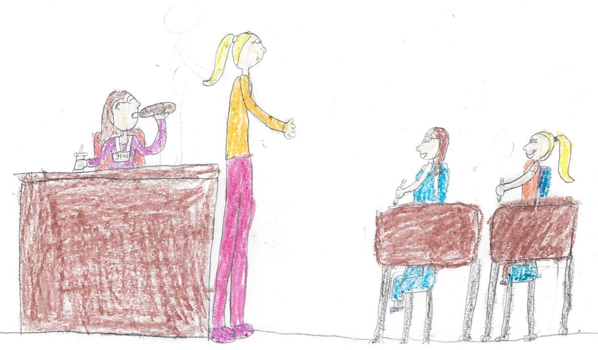 Angela Rattan, grade 2, Oakdale