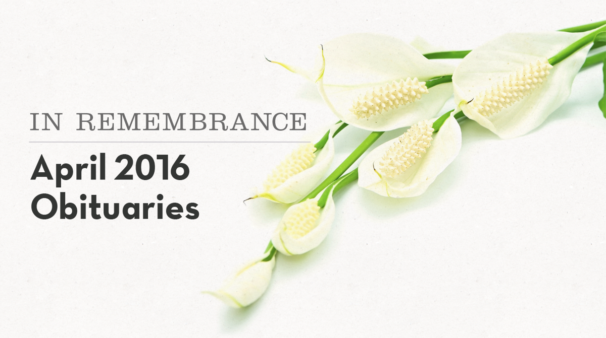 In Remembrance Local Obituaries In April Obituaries Pantagraph
